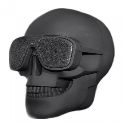 Skull Head Shape Rechargeable Wireless Speaker for Halloween Christmas