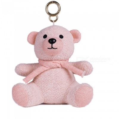 KELIMA Mini Cartoon Plush Bear Doll Bluetooth Speaker - Pink