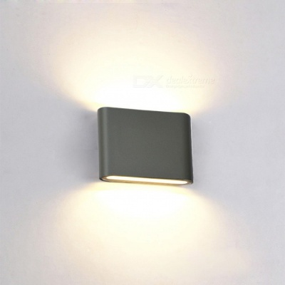 JIAWEN 6W Warm White LED Wall Lamp for Indoor, Outdoor - Grey