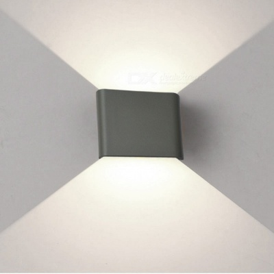 JIAWEN 6W Cold White LED Wall Lamp for Indoor, Outdoor - Grey