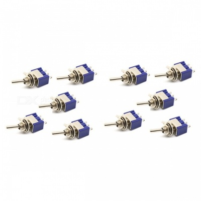 Mini MTS-102 3-Pin SPDT ON-ON 6A 125V AC Miniature Toggle Switches