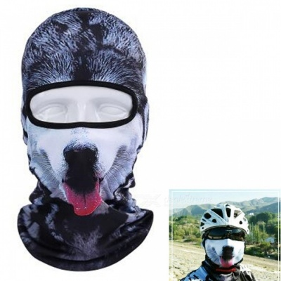 Creative Unisex Husky Face Mask for Outdoor - Black, White, Multicolor
