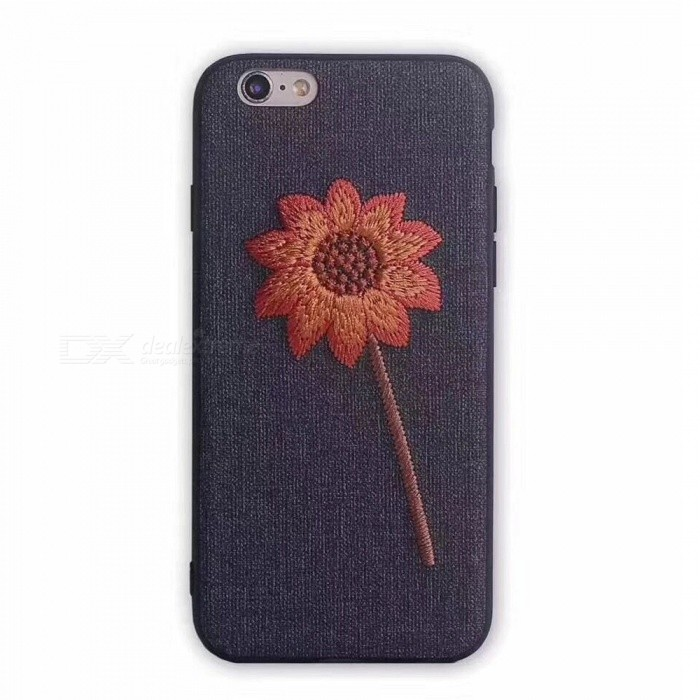 Embroidery Flower Style Protective Back Case for IPHONE 7 PLUS