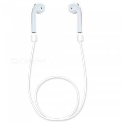 KICCY Silicone Anti-Lost Ear Loop Strap for AirPods Earphone - White