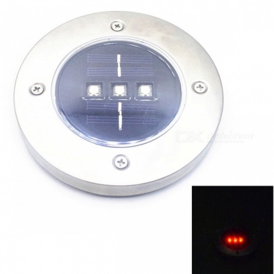 Outdoor Solar Powered Waterproof Lawn Light Lamp - Red Light