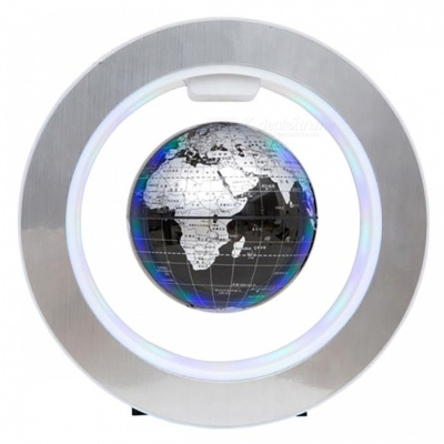 Electronic Magnetic Levitation Floating Globe Rotation Map for Office