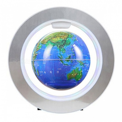 Electronic Magnetic Levitation Floating Globe Rotation Map - Blue