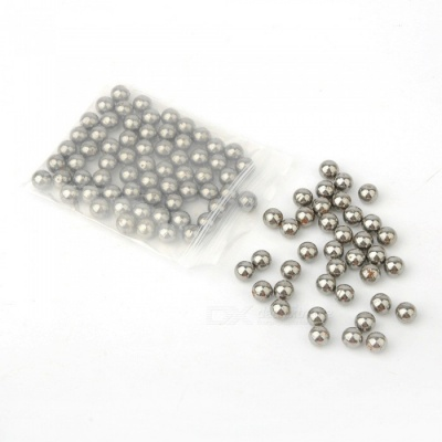 8mm Slingshot Dedicated Ball Marbles Toy - Silver (100 PCS)