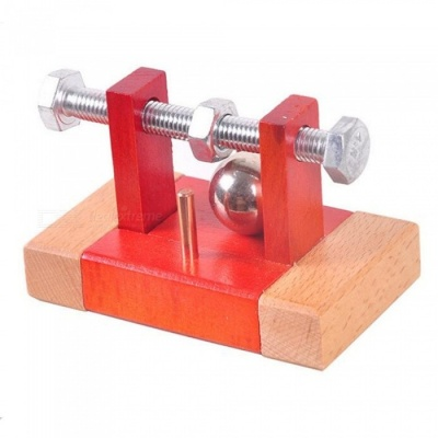 Take Beads From Wood Classic IQ Mind Wooden Metal Puzzle Game Box