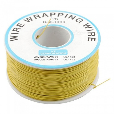 ZHAOYAO 305m PVC Coated Tinned Copper Wrapped Wire Package - Yellow