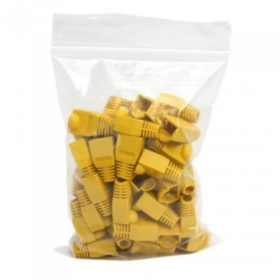 ZHAOYAO CAT6 RJ45 Ethernet Network Cable Caps - Yellow (200 PCS)
