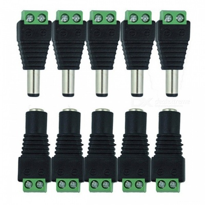 YWXLight 5 Pairs Male Female DC Connectors for LEDLamp Strip