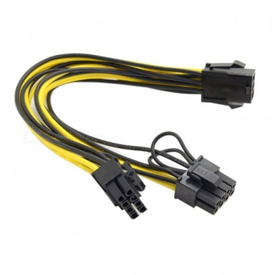 CY PW-185 PCI Express 6Pin to Dual 8Pin Power Adapter Cable
