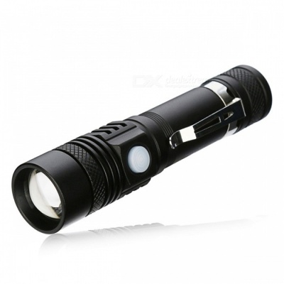 SPO XM-L2 Zooming 4-Mode USB Rechargeable Flashlight