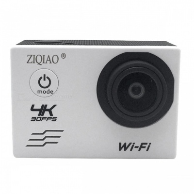 ZIQIAO SX-V60 4K WiFi HD Waterproof DV Camcorder Sports Camera - White