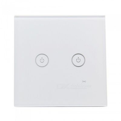 Geekworm AC 85V-250V 2 Gang 1 Way 86 Type WiFi Smart Wall Touch Switch