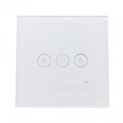 Geekworm AC 85V-250V 3 Gang 1 Way 86 Type WiFi Smart Wall Touch Switch
