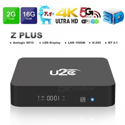 Android 7.1 Smart TV Box U2C Z Plus Amlogic S912 2GB/16G ROM - EU Plug