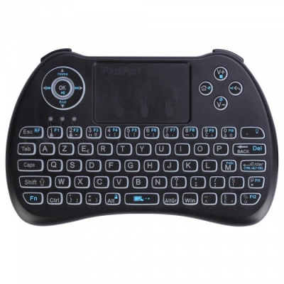 iPazzPort Mini French Letter Wireless Keyboard with Tri-color Backlit
