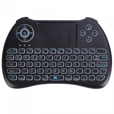 iPazzPort Mini German 2.4G Wireless Keyboard with Tri-color Backlit