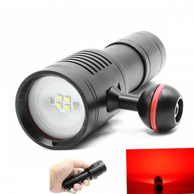 ZHAOYAO Underwater 200m 6-Mode Fill Light Diving Flashlight