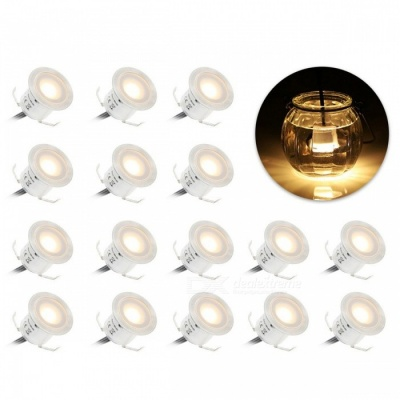 YWXLight Outdoor Warm White LED Deck Light Garden Lamp - 16PCS/US Plug