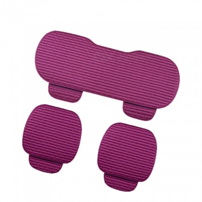 CARKING 3-Piece Fashion Fiber Cotton Car Seat Cushion - Purple