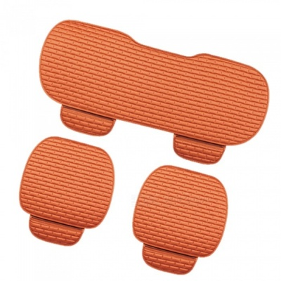 CARKING 3-Piece Fashion Fiber Cotton Car Seat Cushion - Orange