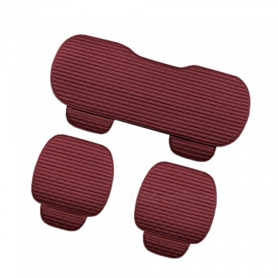 CARKING 3-Piece Fashion Fiber Cotton Car Seat Cushion - Dark Red