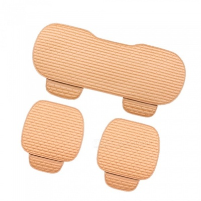 CARKING 3-Piece Fashion Fiber Cotton Car Seat Cushion - Beige