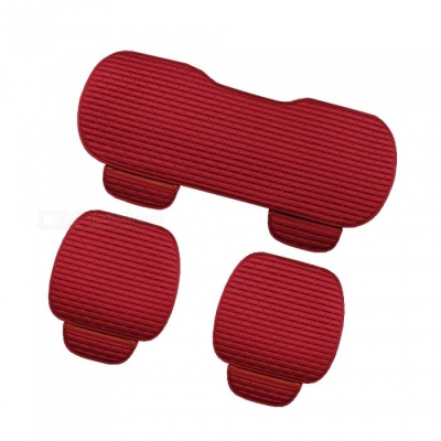 CARKING 3-Piece Fashion Fiber Cotton Car Seat Cushion - Red