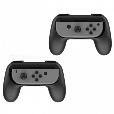 Controller Grips Handle for Nintendo Switch Joy-Con - Black (2PCS)