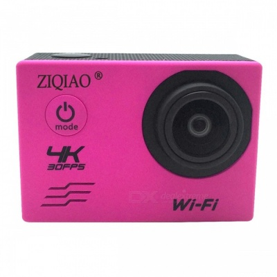 ZIQIAO SX-V60 4K WiFi HD Waterproof DV Camcorder Sports Camera - Pink