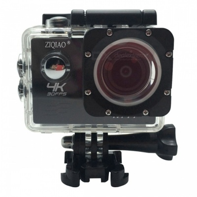ZIQIAO SX-V60 4K WiFi HD Waterproof DV Camcorder Sports Camera - Black