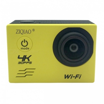 ZIQIAO SX-V60 4K WiFi HD Waterproof DV Camcorder Sports Camera -Yellow