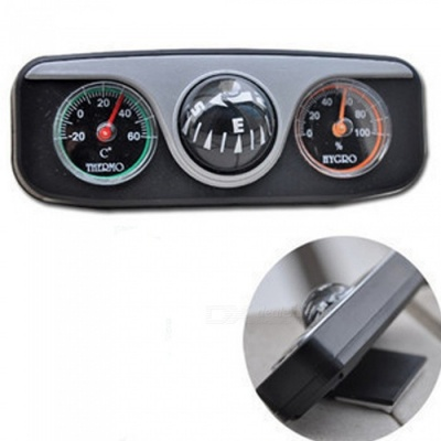 OJADE 3-in-1 Guide Ball Car Navigation Compass Thermometer Hygrometer