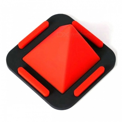 MAIKOU Universal Pyramid Shape Flat Silicone Phone Holder - Red