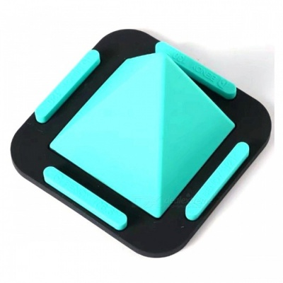MAIKOU Universal Pyramid Shape Flat Silicone Phone Holder - Blue