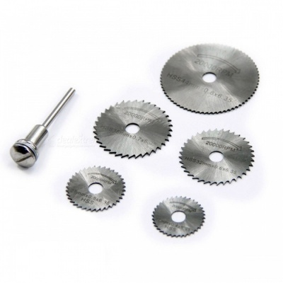 6Pcs Mini Circular Saw Blade Set for Wood Aluminum Cutting