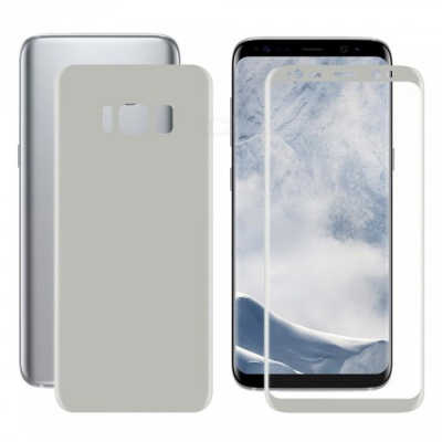 Hat-Prince 2PCS 3D Full Screen Guard for Samsung Galaxy S8+ - Silver