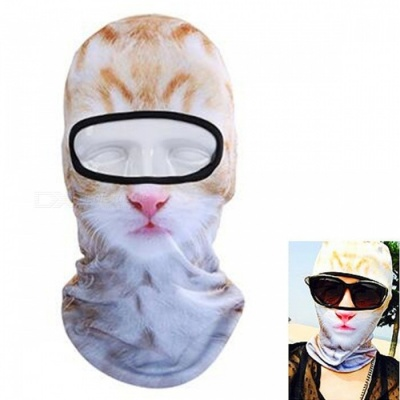 Unisex Creative Dustproof White Cat Face Mask for Outdoor