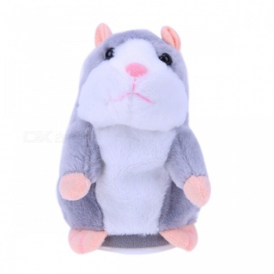 Talking Hamster Toy for Kids Baby - Grey
