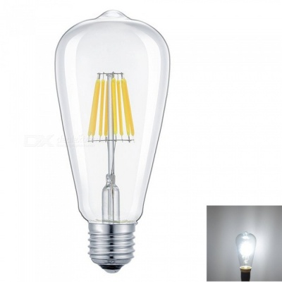 ZHAOYAO E27 8W Dimmable COB LED Glass Lamp Bulb - White Light