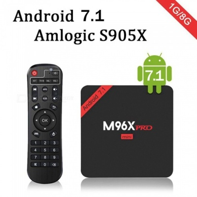 M96X PRO Mini Android 7.1 Amlogic S905X Quad-Core Smart TV Box (US Plug)