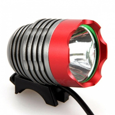 ZHAOYAO XM-L2 T6 Super Bright 3-Mode USB Charging Bicycle Headlight - Red