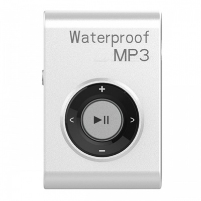 KELIMA Sports Waterproof Clip-on Lossless Music MP3 Player with Earphones - White (4GB)