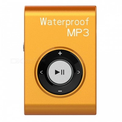 KELIMA Sports Waterproof Clip-on Lossless Music MP3 Player with Earphones - Orange (4GB)