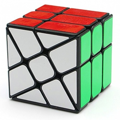 YJ 56mm Rubik Smooth Speed Magic Cube Puzzle Toy for Kids, Adults - Black