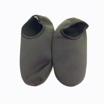 Unisex Anti-slip Anti-skid Diving Socks for Men Women - Black (XL)
