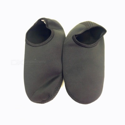Unisex Anti-slip Anti-skid Diving Socks for Men Women - Black (XXL)